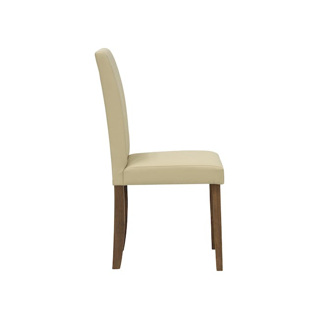 Dahlia Dining Chair - Cocoa, Cream (Faux Leather) - 3