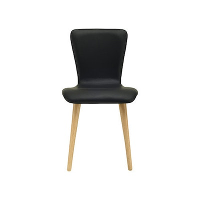 Valley Vinyl Seat Dining Chair - Black, Mocha - Image 2