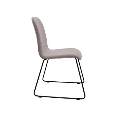 (As-is) Ava Dining Chair - Matt Black, Tangerine - 3 - Image 2
