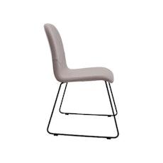 Ava Dining Chair - Matt Black, Emerald