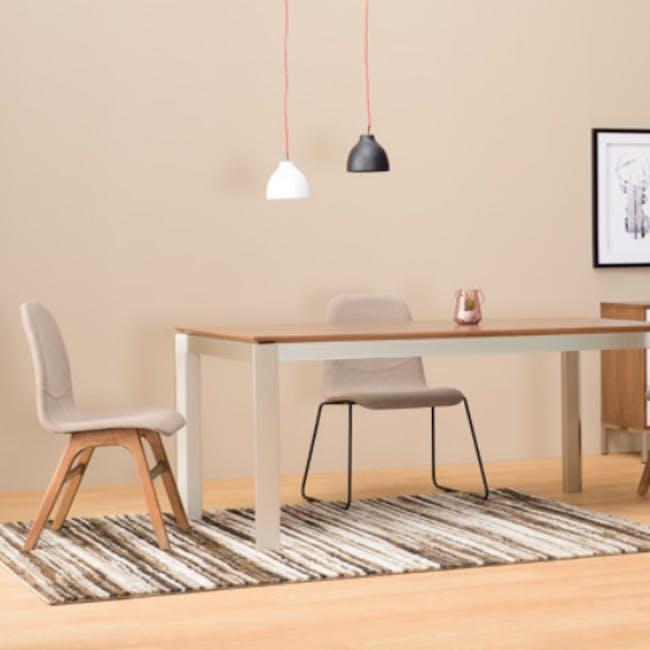 Ava Dining Chair - Matt Black, Tangerine - 7