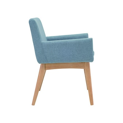 Fabian Dining Chair with Armrests - Cocoa, Pebble - Image 2
