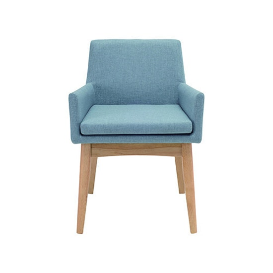 Malmo - Fabian Dining Chair with Armrests - Cocoa, Mud