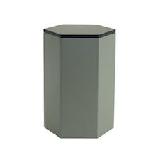 Fedora Storage Stool Table - Black, Grey