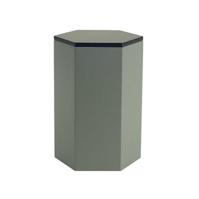 Fedora Storage Stool Table - Black, Grey - Image 1