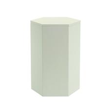 Fedora Storage Stool Table - White