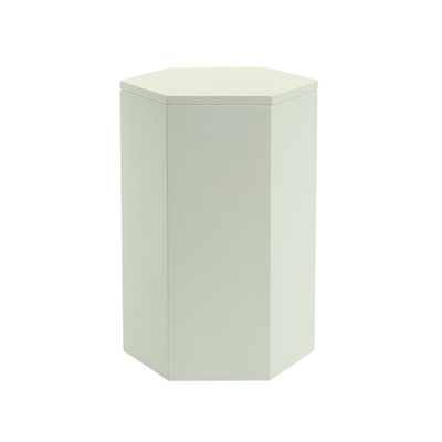 Fedora Storage Stool Table - White - Image 1