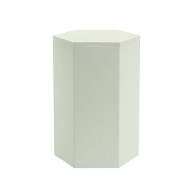 Fedora Storage Stool Table - White