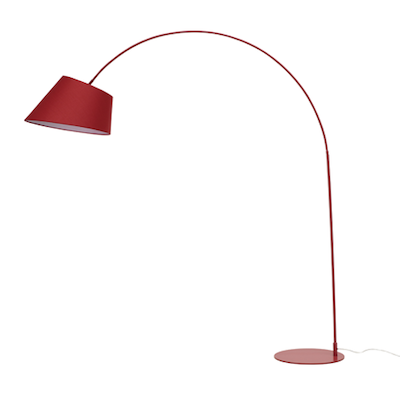 Long-necked Floor Lamp - Matte Red - Image 1