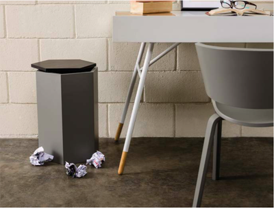 Fedora Storage Stool Table - Black, Grey - Image 2