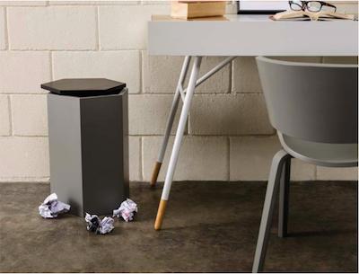 Fedora Storage Stool Table - Black, Grey - Image 2