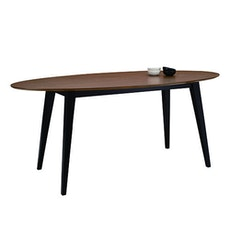 San Francisco 6 Seater Oval Dining Table - Natural, Taupe Grey