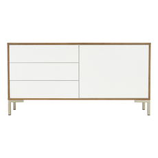 Randy Sideboard - Cocoa, White