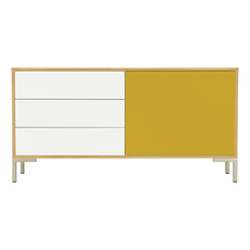 Randy Sideboard - Natural, Olive Yellow