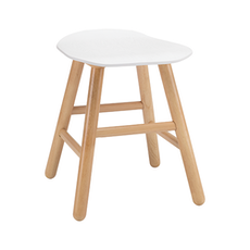 Hetty Stool - Natural, White