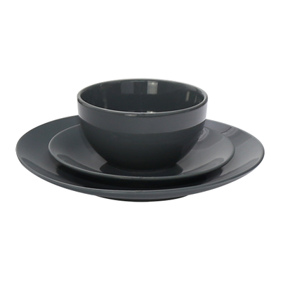EVERYDAY 18-Pc Dinnerware Set - Dark Grey - Image 2