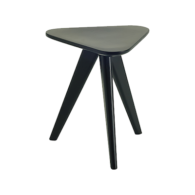 Freya Stool / Small Table - Black Ash Veneer - Image 1