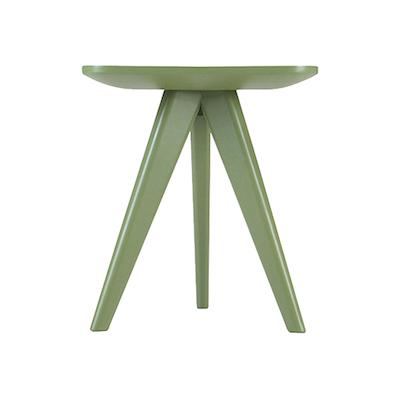 Freya Stool / Small Table - Black Ash Veneer - Image 2