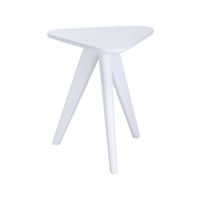 Freya Stool / Small Table - White Lacquered - Image 1