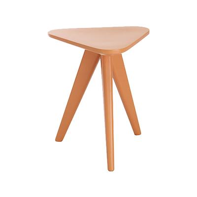 Freya Stool / Small Table - Orange Lacquered - Image 1