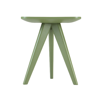 Freya Stool / Small Table - Green Lacquered - Image 2