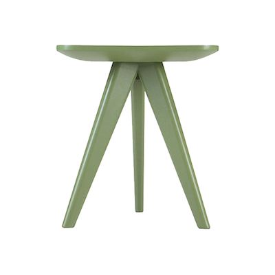 Freya Stool / Small Table - Green Lacquered