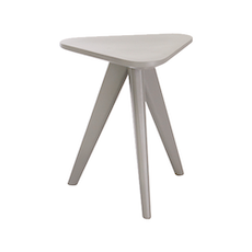 Petite Stool / Small Table - Grey Lacquered