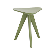 Petite Stool / Small Table - Green Lacquered