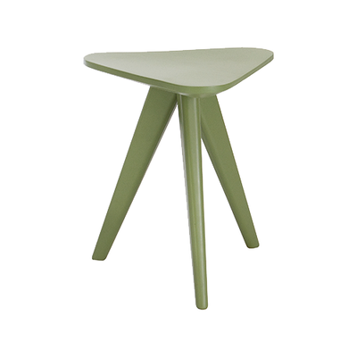 Freya Stool / Small Table - Green Lacquered - Image 1