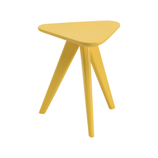 Petite Stool / Small Table - Dust Yellow Lacquered