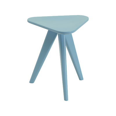 Freya Stool / Small Table - Dust Blue Lacquered - Image 1