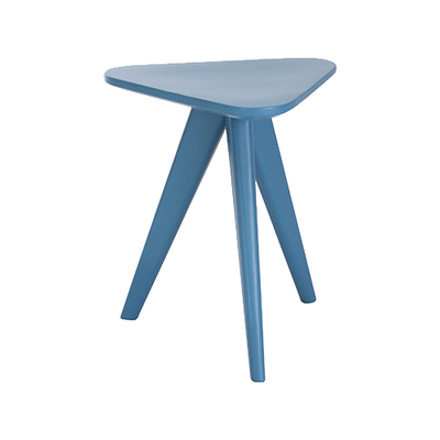 Freya Stool / Small Table - Blue Lacquered - Image 1
