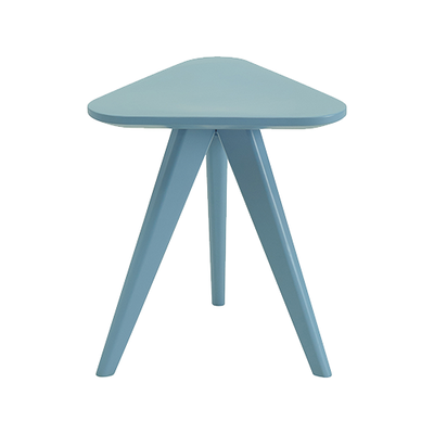 Freya Stool / Small Table - Dust Blue Lacquered - Image 2