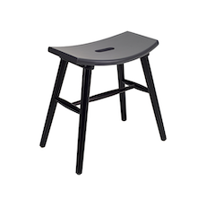 Hollis Stool - Black, Graphite Grey