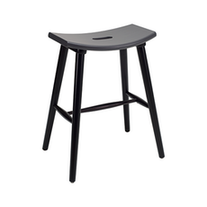 Hollis Counter Stool - Black, Graphite Grey