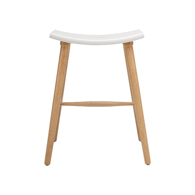 Holly Counter Stool - Natural, White - 1
