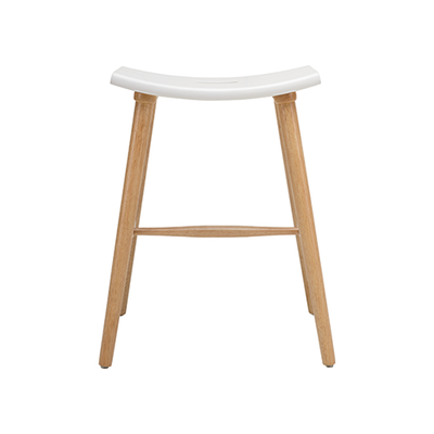 Holly Counter Stool - Natural, White - Image 2