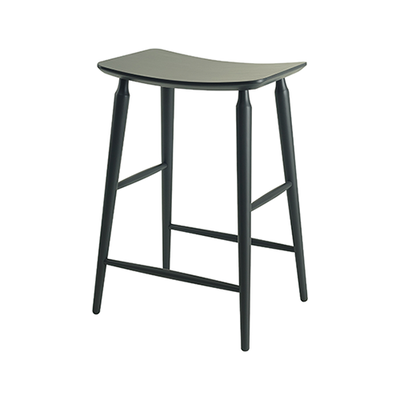 Hester Counter Stool - Charcoal Grey Lacquered - Image 1