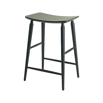 Hester Counter Stool - Charcoal Grey Lacquered