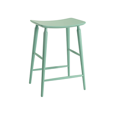 Hester Counter Stool - Light Green Lacquered