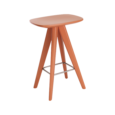 Freya Counter Stool - Orange Lacquered - Image 1