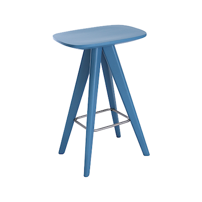 Freya Counter Stool - Blue Lacquered - Image 1