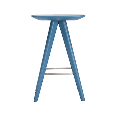 Freya Counter Stool - Blue Lacquered - Image 2