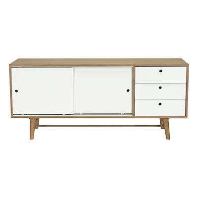 Braden Sideboard - Walnut Veneer, White Lacquered - Image 1