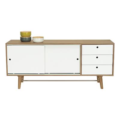 Braden Sideboard - Walnut Veneer, White Lacquered - Image 2