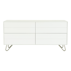 Sydney Sideboard - White Lacquered, Matt Silver
