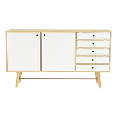 Axtell Sideboard - Oak Veneer, White Lacquered