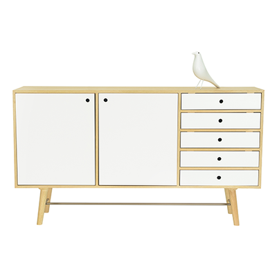 Axtell Sideboard - Oak Veneer, White Lacquered - Image 2