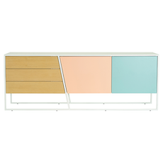 Odin Sideboard - White Lacquered, Multicolour Lacquered, Matt White
