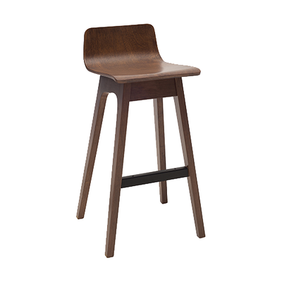 Ava Low Back Bar Chair - Walnut - Image 1